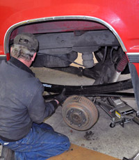 Leaf Spring Installation